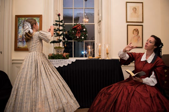 Costumed actors interpret Christmas 1860 at the Edmondston-Alston House in Charleston, S.C.