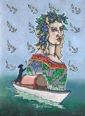 """Paul Harmon, """"The Ballad,"""" oil on canvas, 40 x 30"""