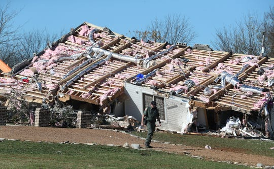 The Midland Road home of Angie and Scott Walker was ripped from its foundation during an EF-2 tornado on Tuesday, Nov. 6.
