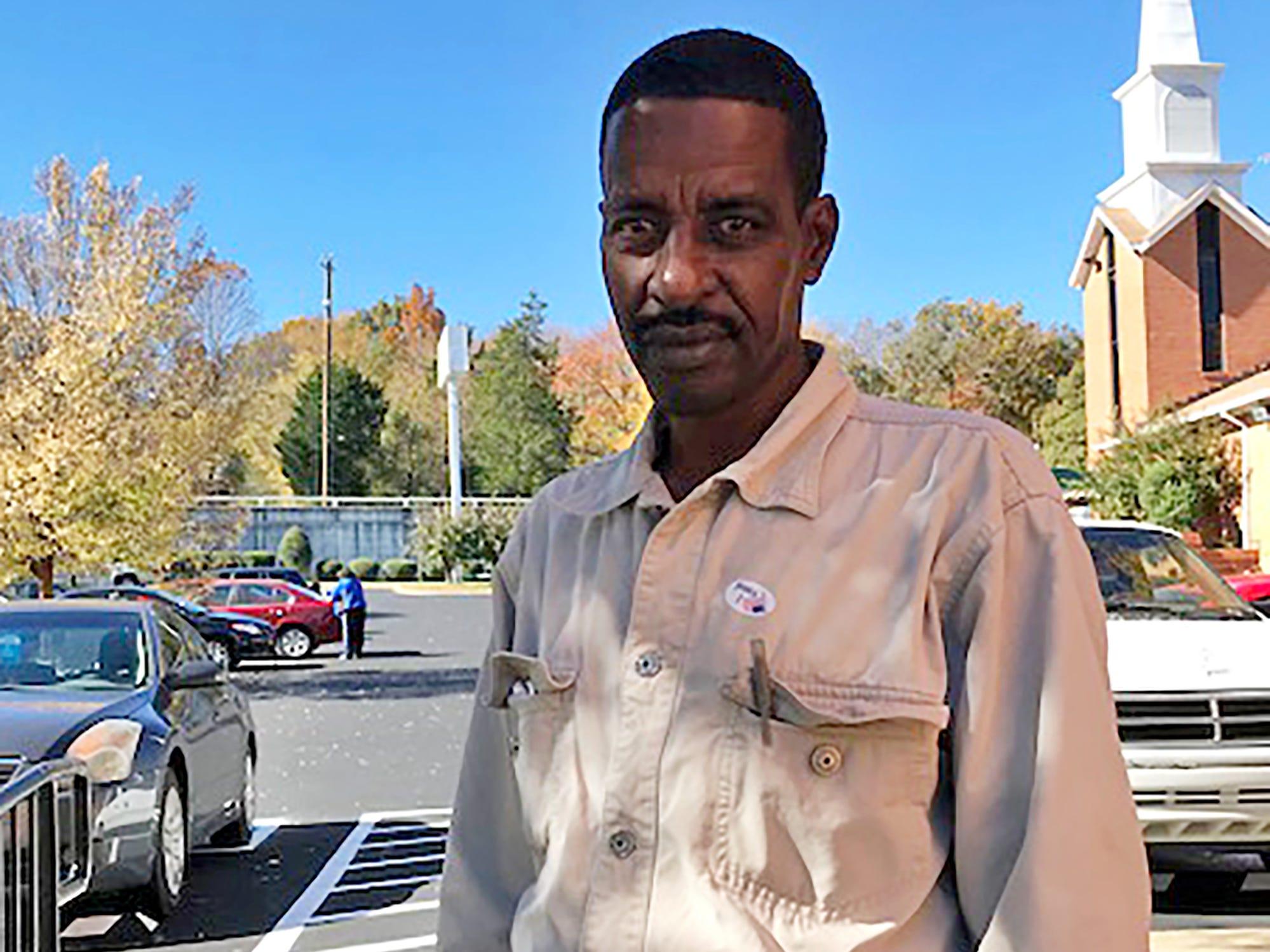 Abdi Radi, 54 Antioch resident voties at Rural Hill Church of Christ Tuesday, Nov. 6, 2018 in Nashville, Tenn..