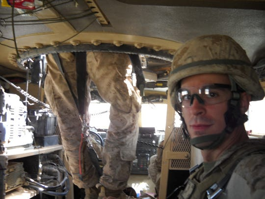 Aaron Dorn was part of a convoy to visit Marines at patrol bases in Afghanistan.