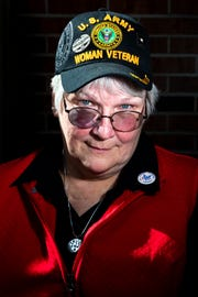 """Mary Ross, 62, was a sergeant first class in the Army. """"Being a veteran means I have served my country and I have served it well,"""" she said. """"It also means my mission is not done. Once you put on a uniform, you can take it off but you never stop serving."""""""