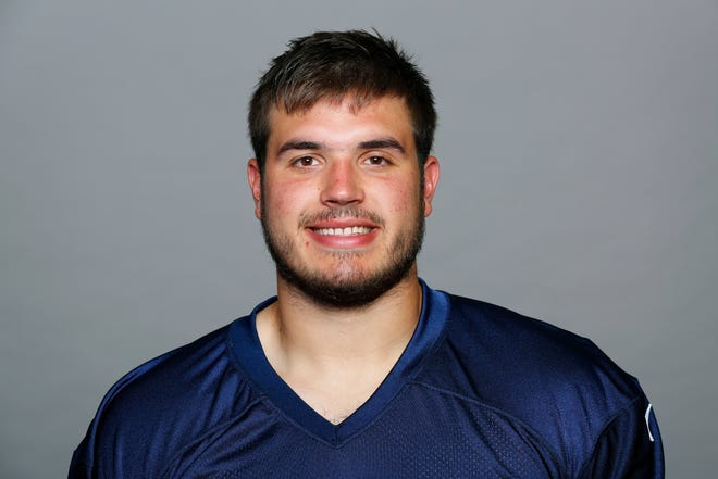 This is a photo of Jack Conklin of the Tennessee Titans NFL football team. This image reflects the Tennessee Titans active roster as of Friday, June 1, 2018. (AP Photo)