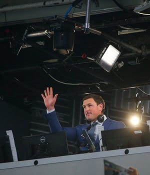 Former NFL player and broadcaster  Jason Witten is recognized by the Dallas Cowboys before the first half of a game against the Titans on Nov. 5.