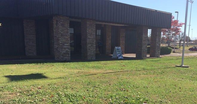 Outside the Tennsco Community Center in Dickson.