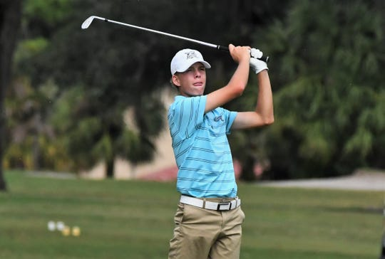 Gulf Coast's Ryan Hart got off to a rough start with a double-bogey on the first hole of Tuesday's Class 3A state golf championship at the Mission Inn & Resort in Howey-in-the-Hills. Hart rallied to shoot a 77 to help the Sharks move into a three-way tie for second place heading into Wednesday's final round.