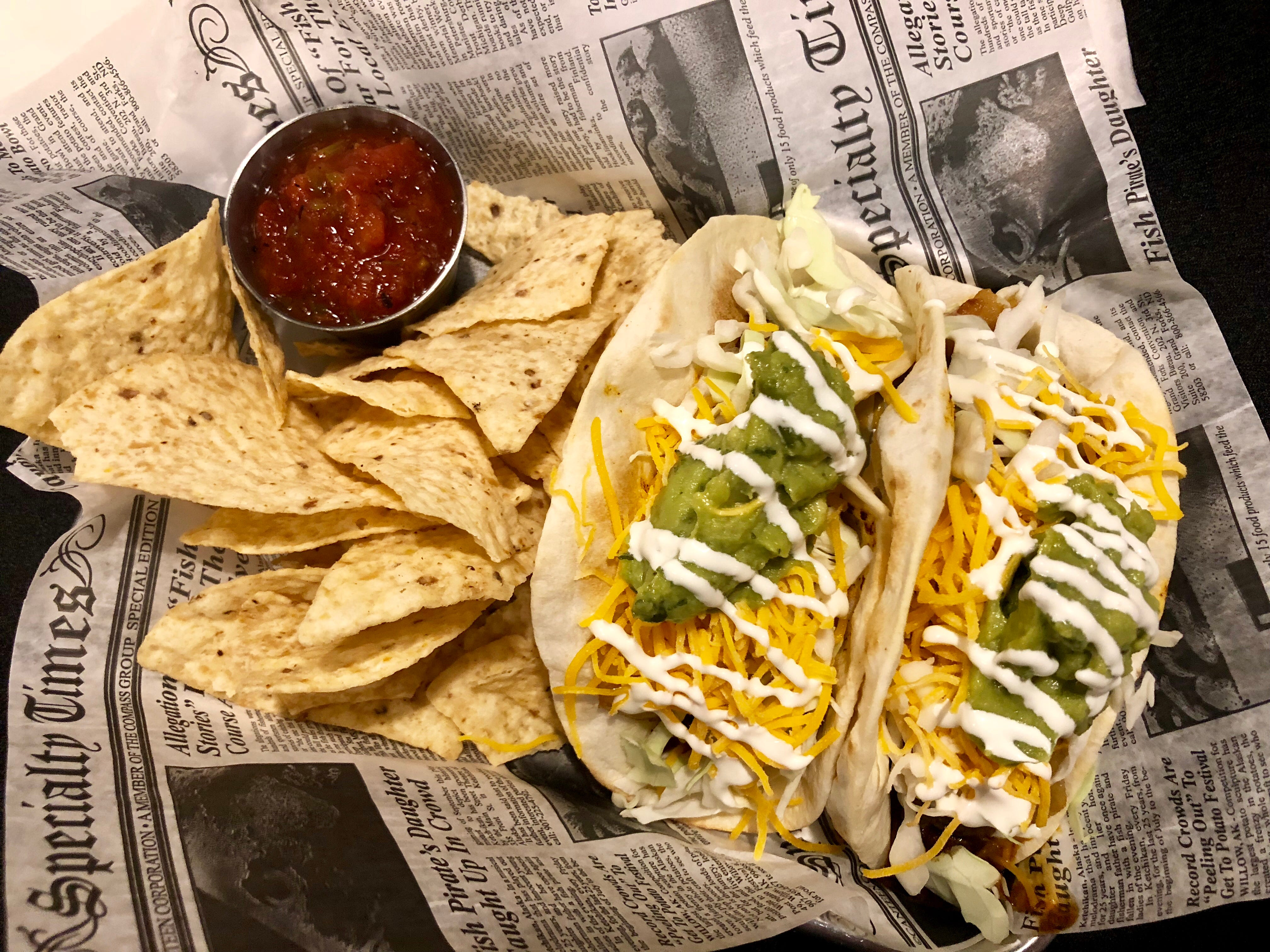 Barbacoa beef street tacos have a spicy kick at Southern Latitudes Brewpub in Naples.