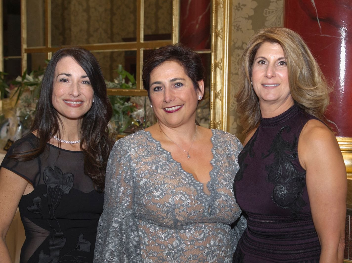 Allison Orecchio, Gina Dongrais, Audrey Soussou. Saint John the Theologian 50th Anniversary gala Dinner at The Venetian in Garfield. 10/04/2018
