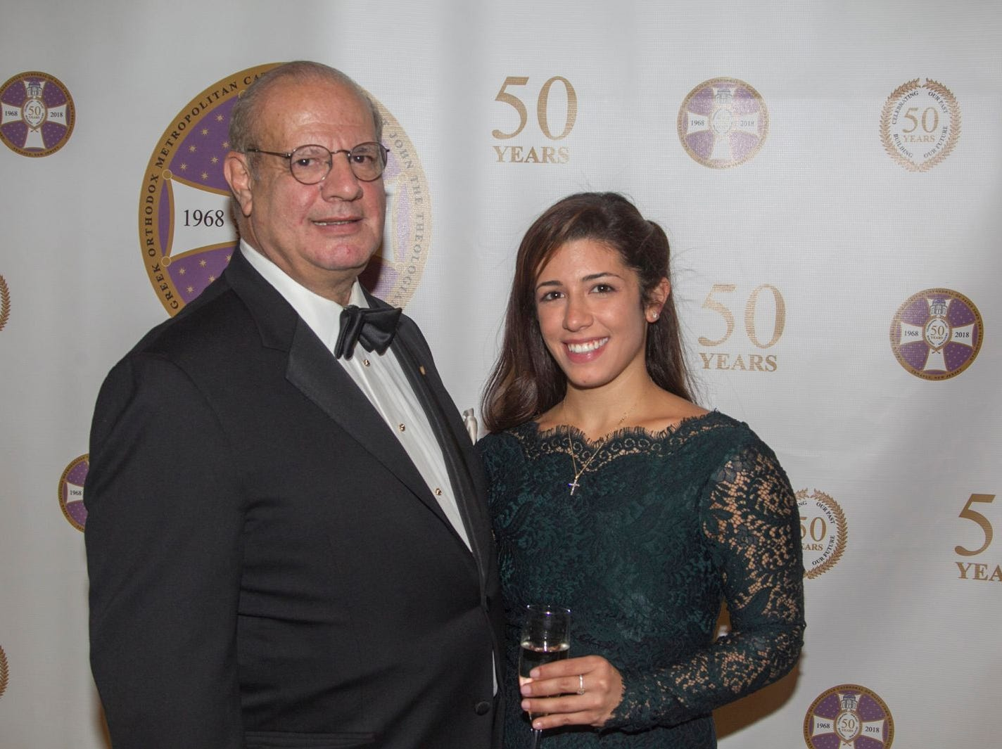 Arthur and Alexis Chagaris. Saint John the Theologian 50th Anniversary gala Dinner at The Venetian in Garfield. 10/04/2018