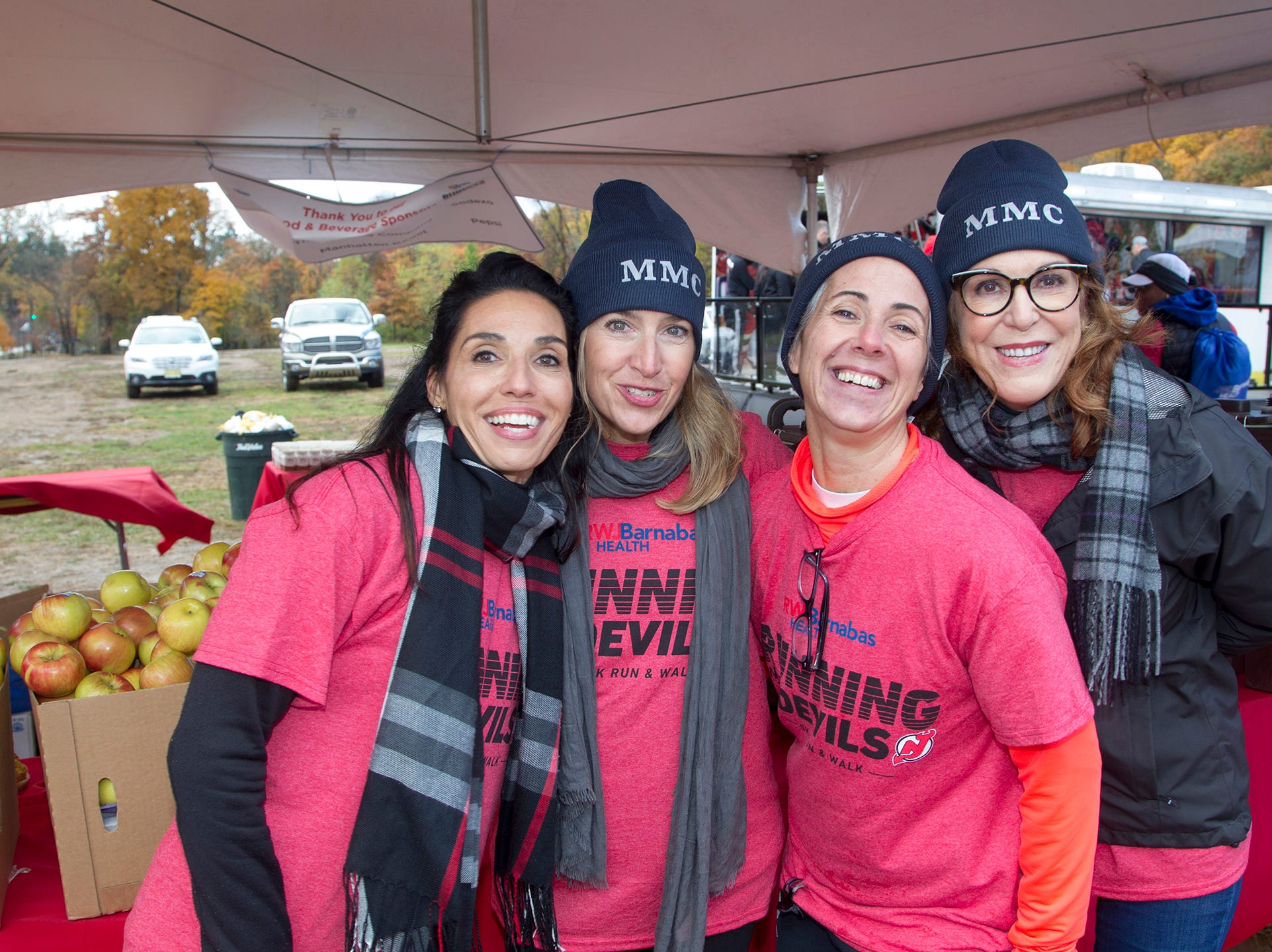 Evelyn, Kelly, Susan, Robin. RWJBarnabas Health Running with the Devils 5K Run and Family Fun Walk at South Mountain Recreation in West Orange. 10/03/2018