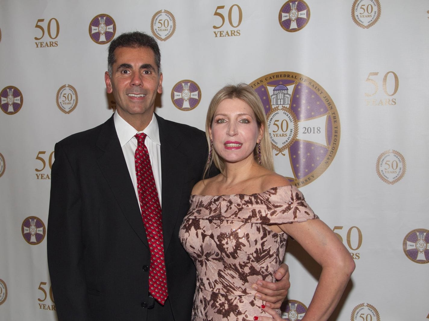 Lambro Demetriades, Marianthi Kefalas. Saint John the Theologian 50th Anniversary gala Dinner at The Venetian in Garfield. 10/04/2018