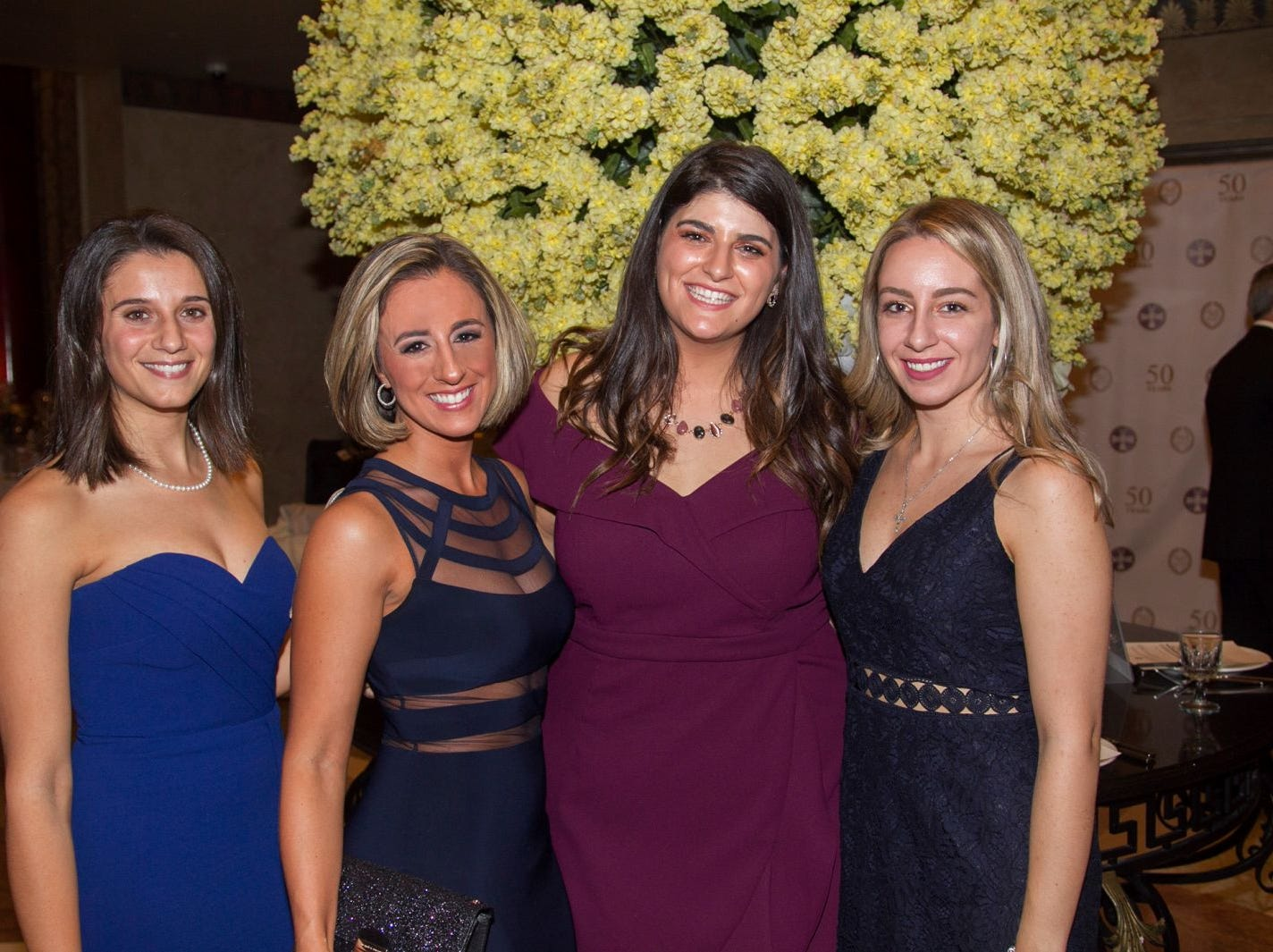 Christine Puleo, Mara Karidas, Stephanie Zavolas, Ariana Galitsis. Saint John the Theologian 50th Anniversary gala Dinner at The Venetian in Garfield. 10/04/2018