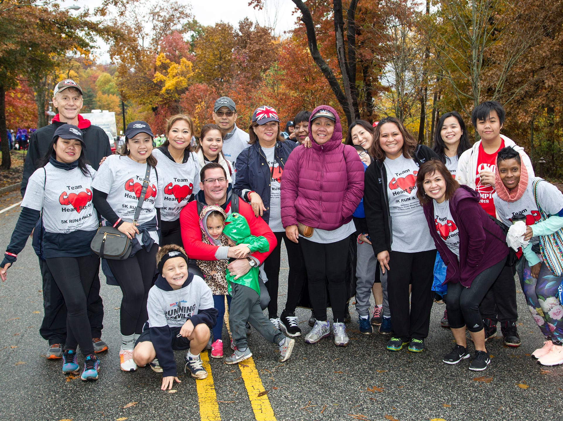 Team Heart Strike. RWJBarnabas Health Running with the Devils 5K Run and Family Fun Walk at South Mountain Recreation in West Orange. 10/03/2018