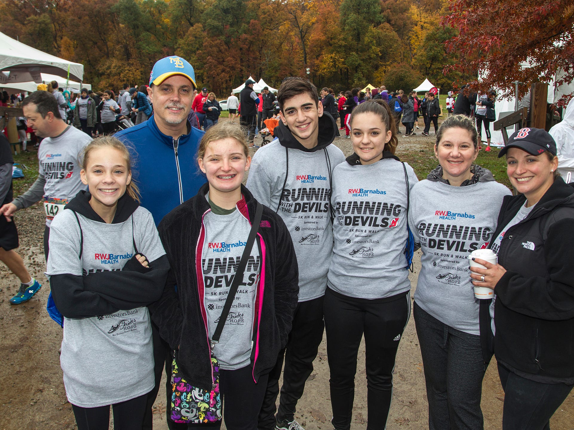 The Maniscalchi Family. RWJBarnabas Health Running with the Devils 5K Run and Family Fun Walk at South Mountain Recreation in West Orange. 10/03/2018
