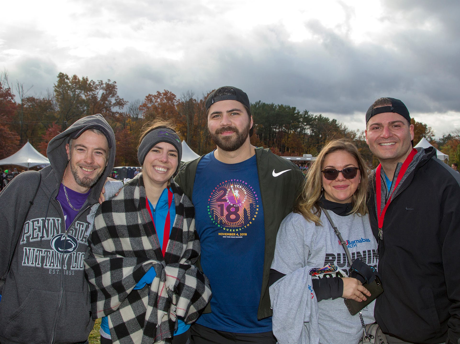 Daniel, mary, Adam, Taran, Steve. RWJBarnabas Health Running with the Devils 5K Run and Family Fun Walk at South Mountain Recreation in West Orange. 10/03/2018