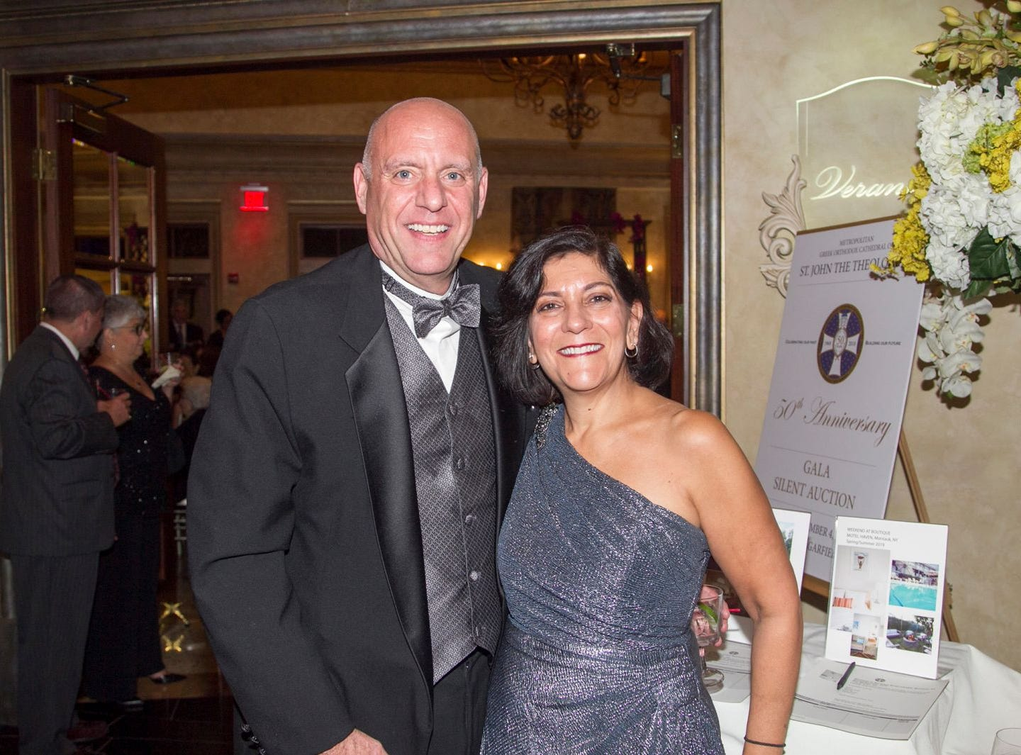 Peter and Joanne Lallos. Saint John the Theologian 50th Anniversary gala Dinner at The Venetian in Garfield. 10/04/2018