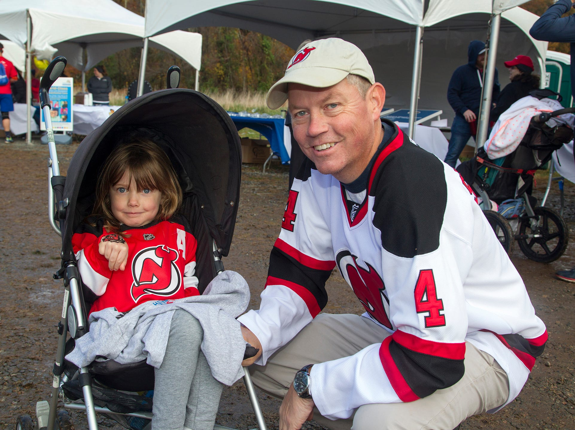 Ava and Bob. RWJBarnabas Health Running with the Devils 5K Run and Family Fun Walk at South Mountain Recreation in West Orange. 10/03/2018