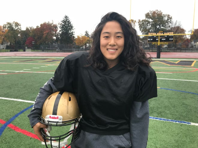 Now in her second varsity season, senior kicker Damiah Kang is the first girl to play for the River Dell football team in the program's 61-year history.