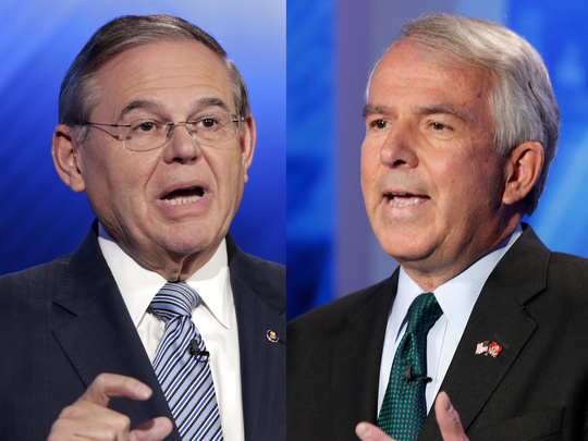 Sen. Bob Menendez (D) and Bob Hugin (R)