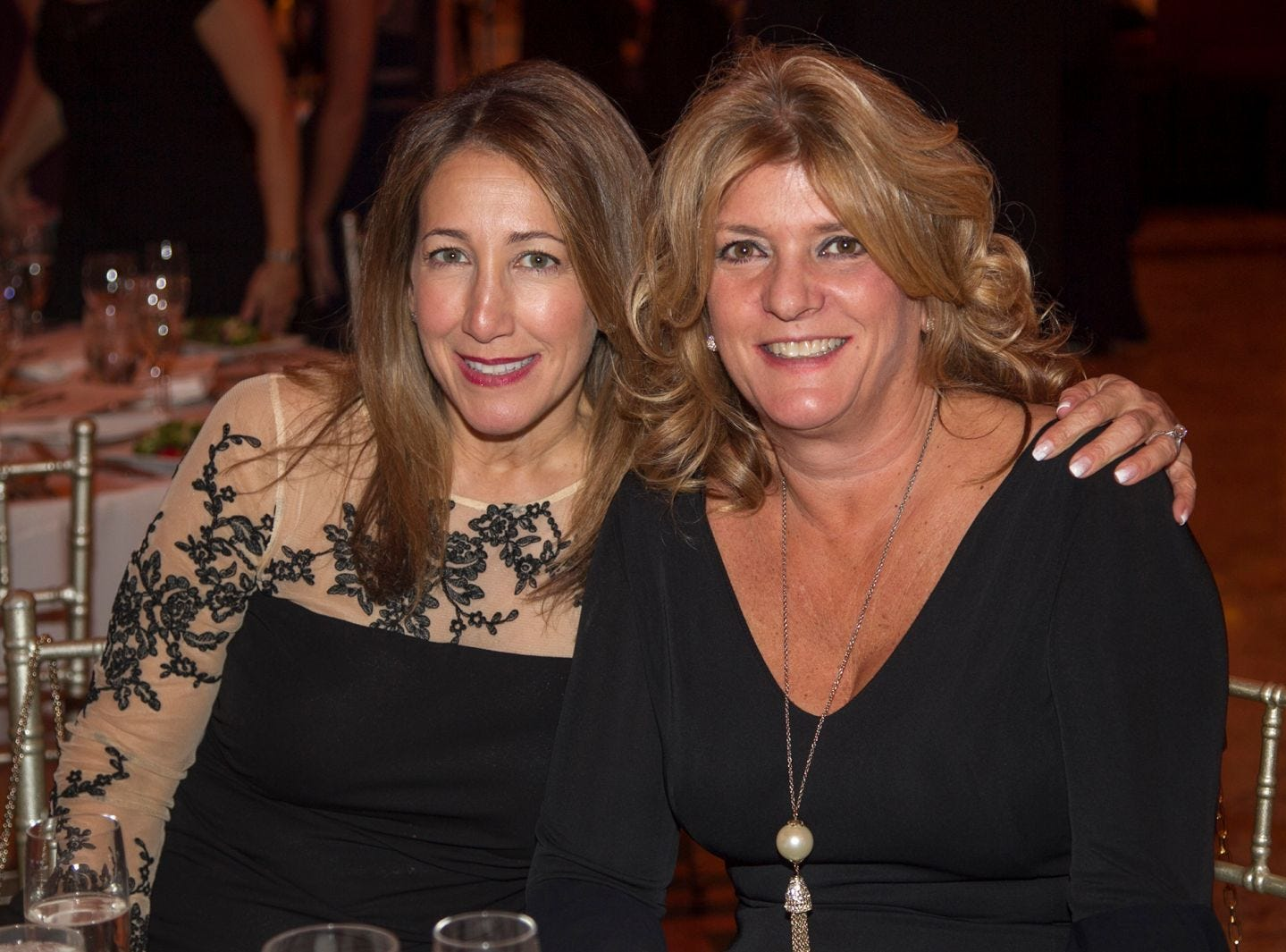 Barbara Makris, Angela Morfogen. Saint John the Theologian 50th Anniversary gala Dinner at The Venetian in Garfield. 10/04/2018