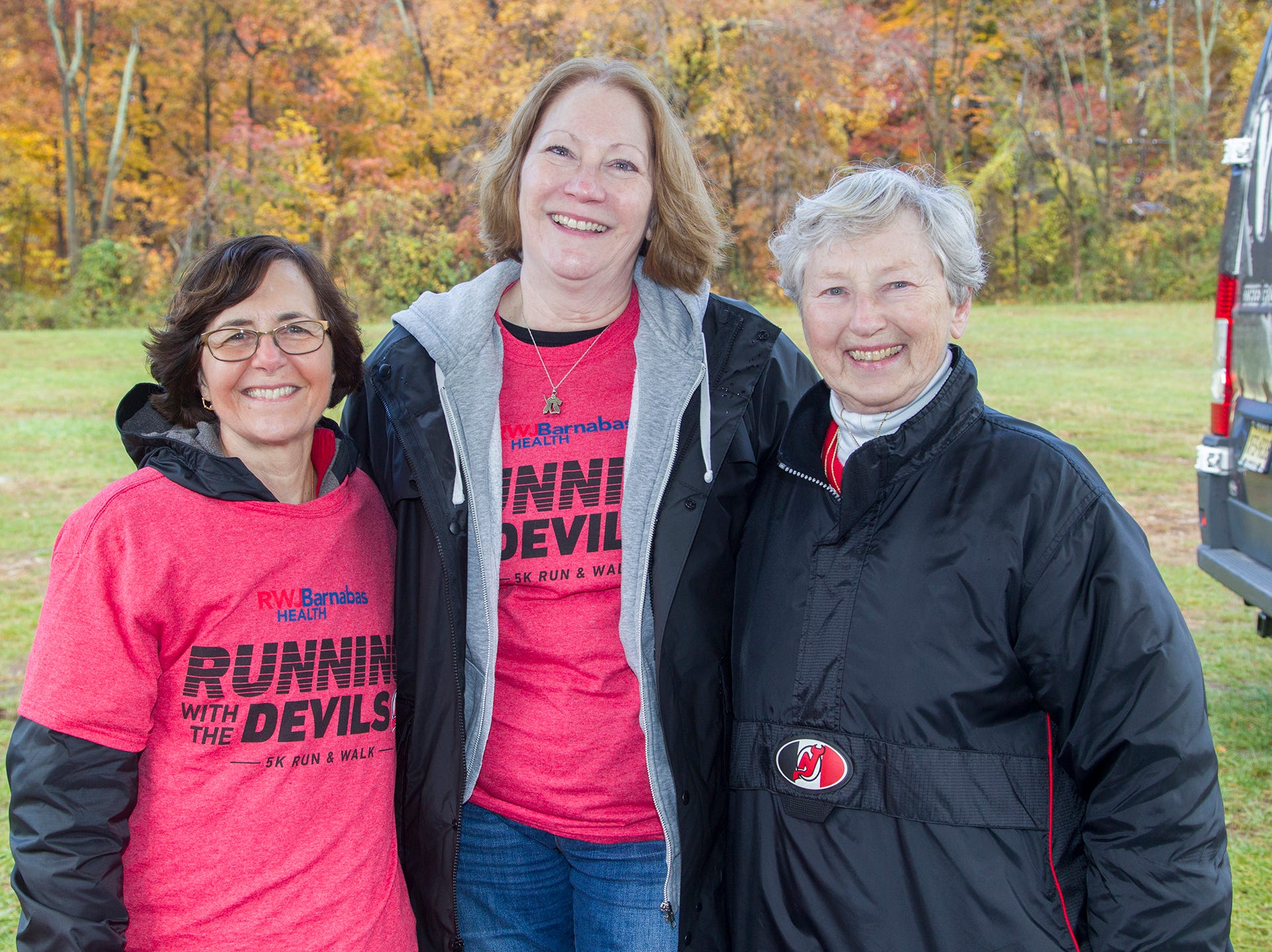 Debbie, Dee, Trudy. RWJBarnabas Health Running with the Devils 5K Run and Family Fun Walk at South Mountain Recreation in West Orange. 10/03/2018