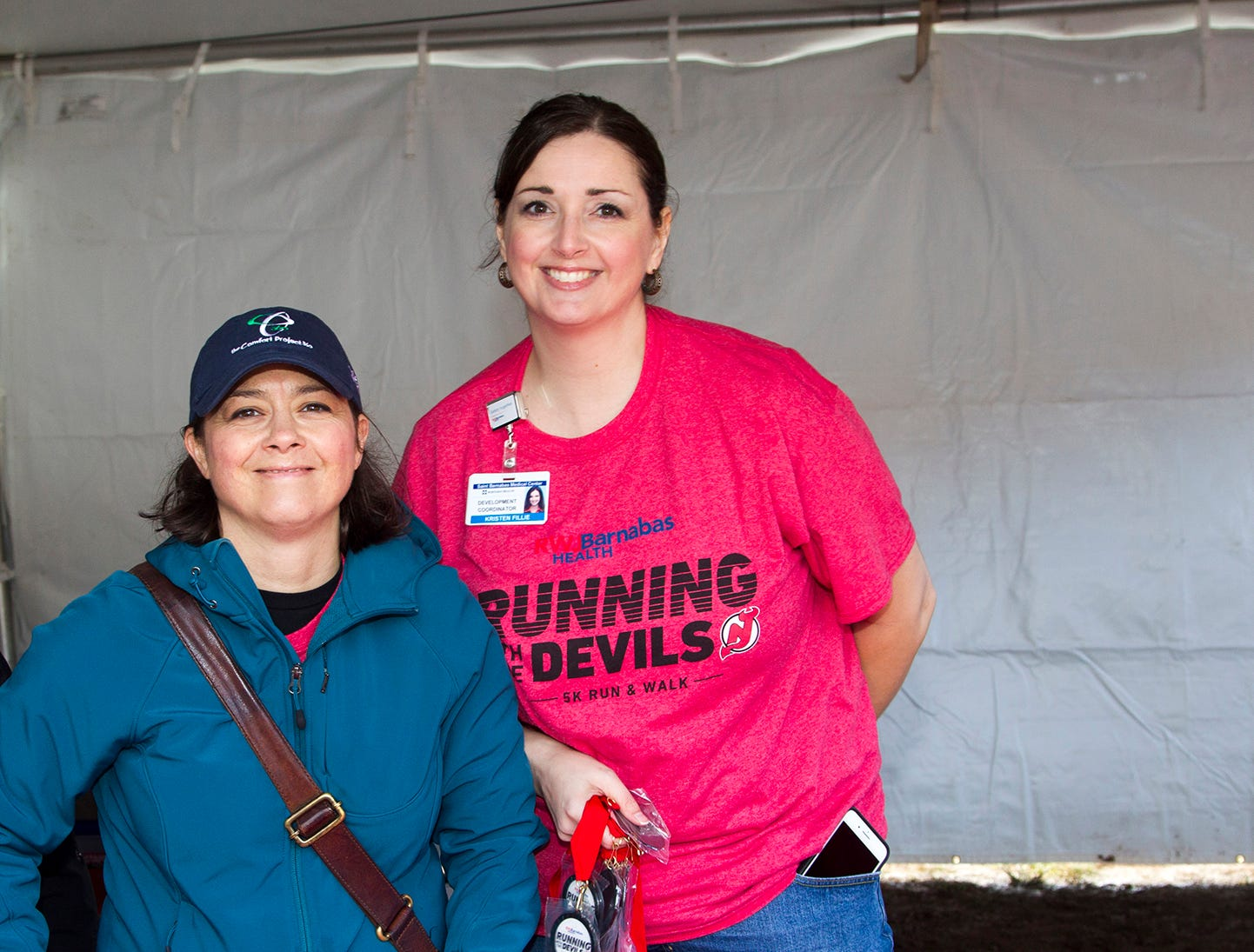 Jenny and Kristen. RWJBarnabas Health Running with the Devils 5K Run and Family Fun Walk at South Mountain Recreation in West Orange. 10/03/2018