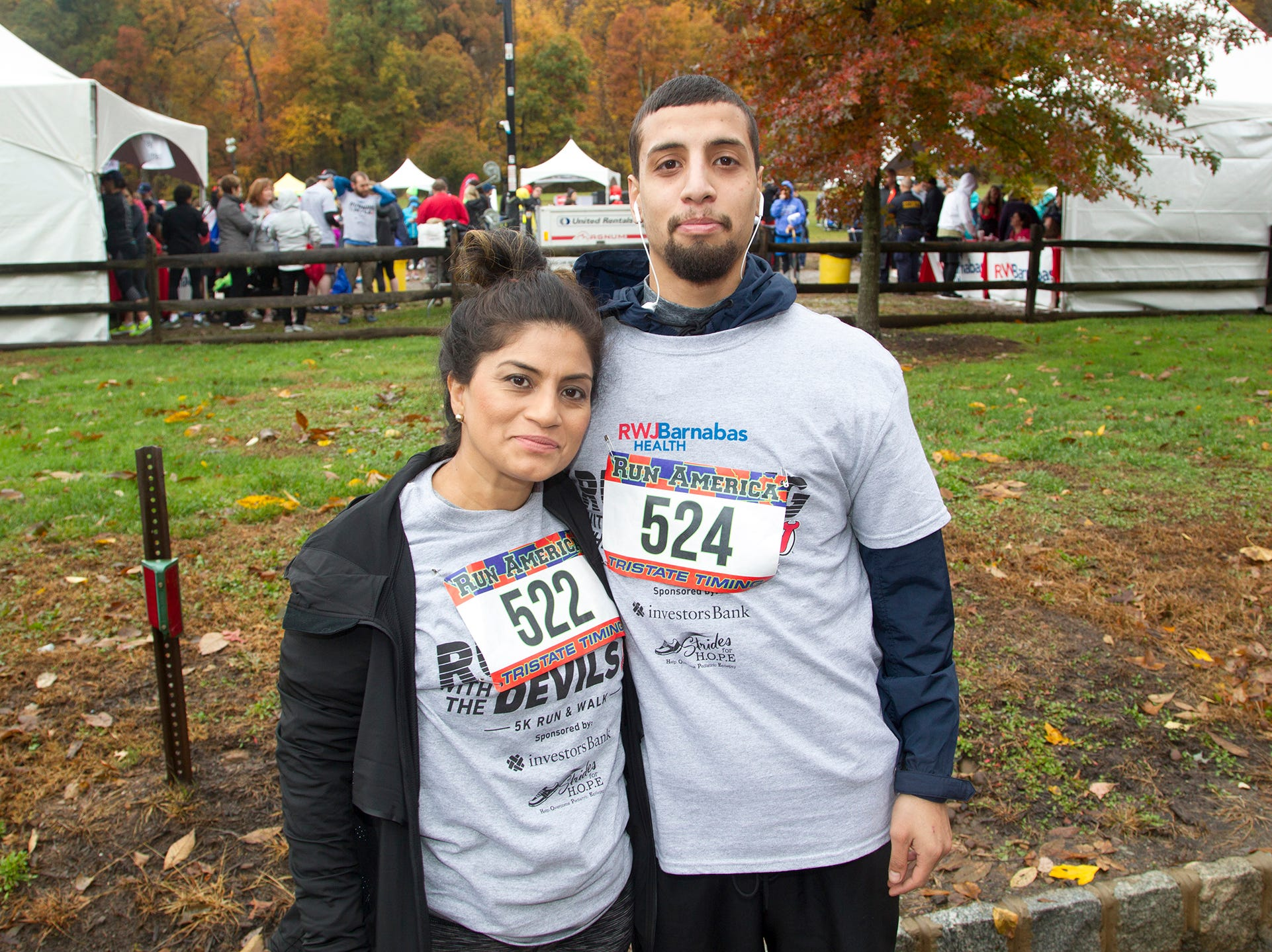 Marjorie and William Rodriguez. RWJBarnabas Health Running with the Devils 5K Run and Family Fun Walk at South Mountain Recreation in West Orange. 10/03/2018