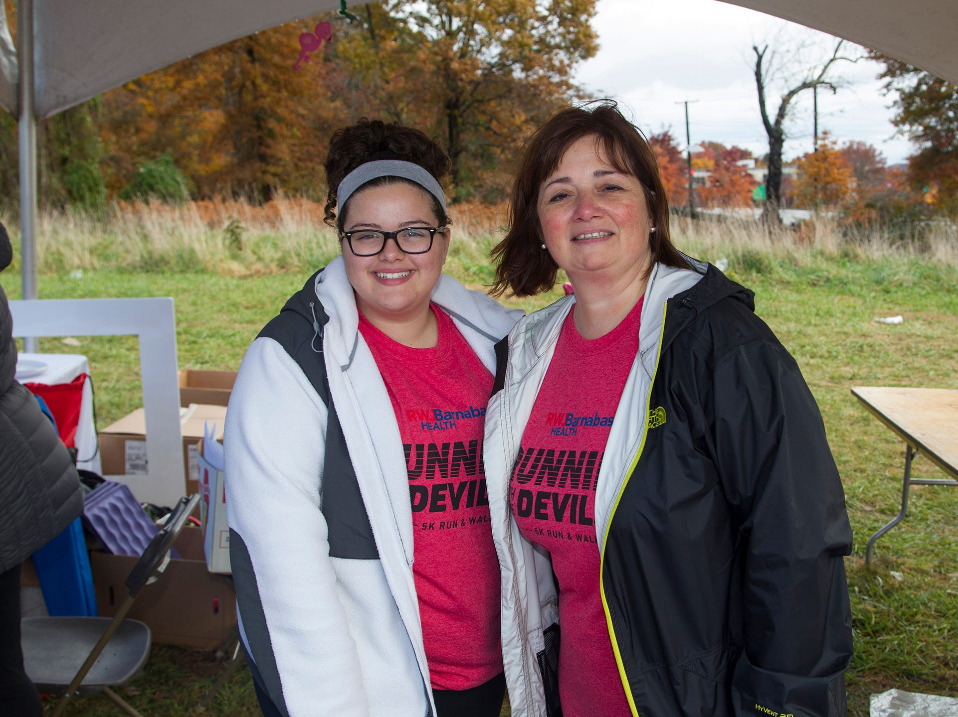 Jenna and Lisa. RWJBarnabas Health Running with the Devils 5K Run and Family Fun Walk at South Mountain Recreation in West Orange. 10/03/2018