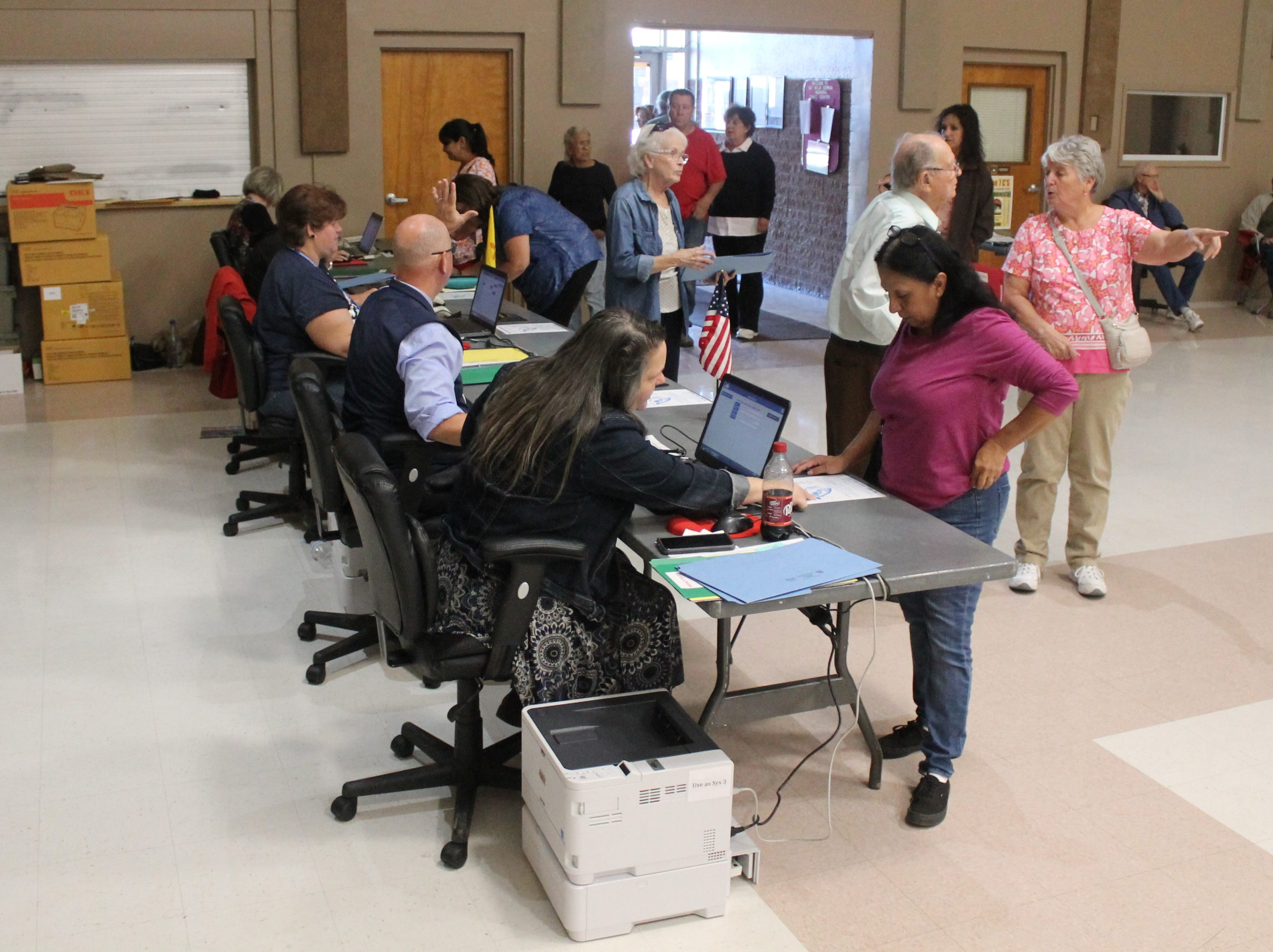 Around a third of Otero County's registered voters - roughly 10,000 residents - chose to vote early, Otero County Clerk Robyn Holmes said.