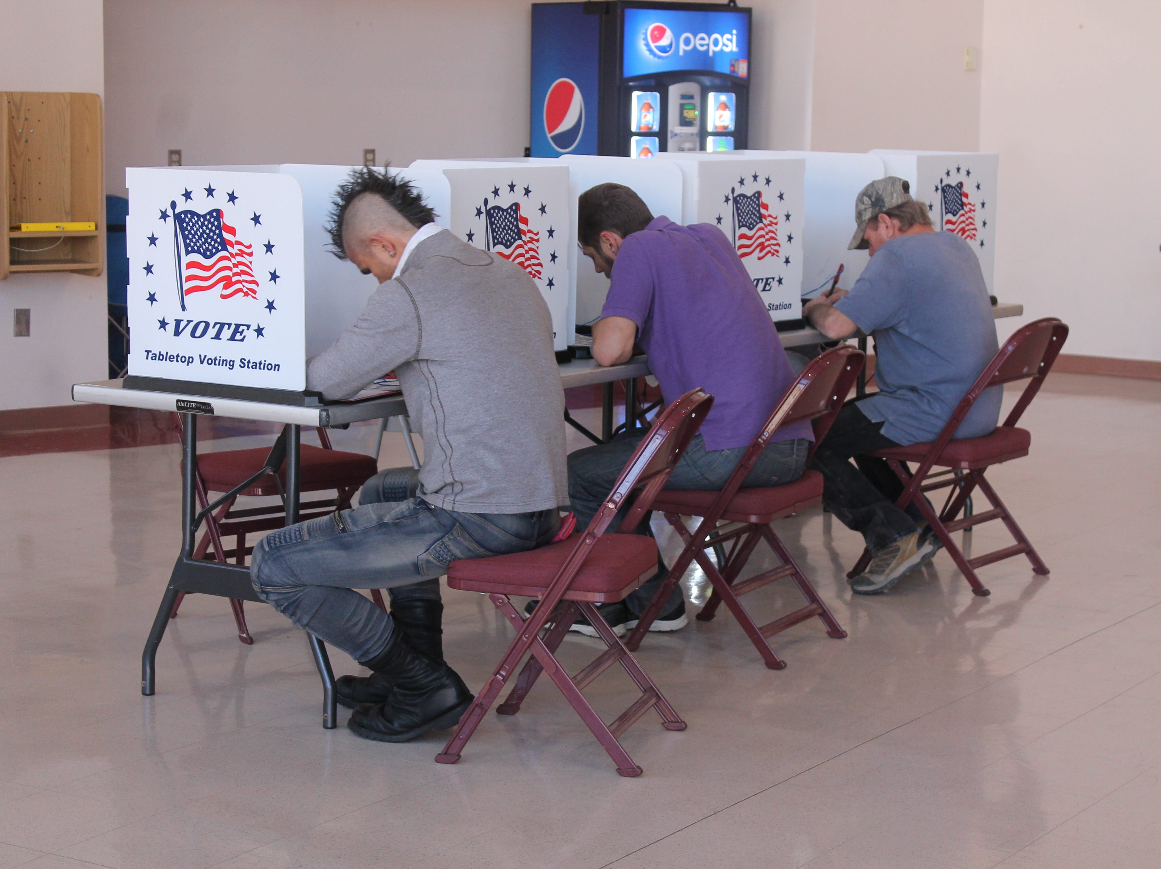 Voters cast their ballots at the Tays Center on the New Mexico State University Alamogordo campus on Nov. 6.
