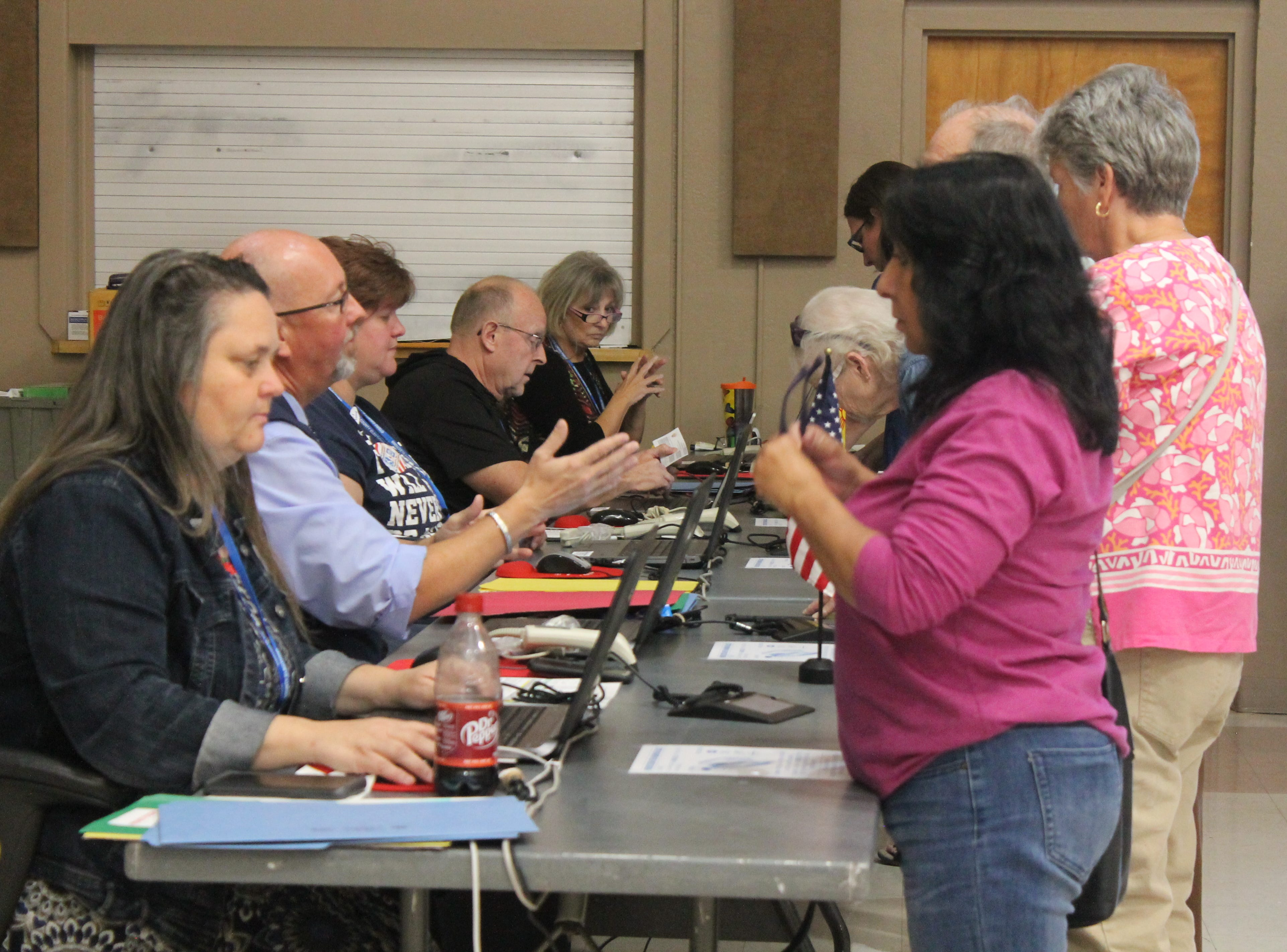 Over 800 people had voted at the Willie Estrada Memorial Civic Center by 2 p.m. on Election Day, election judge Jean Branch said. The poll workers have stayed busy all day, she said.