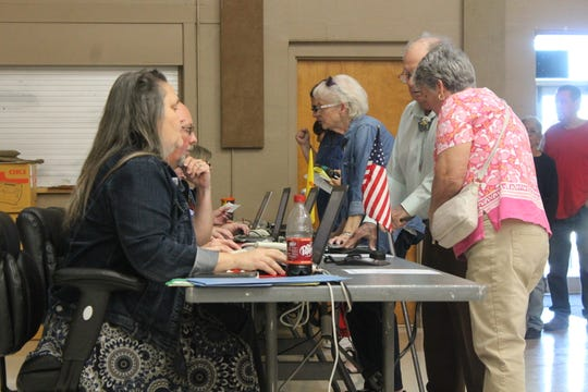 Otero County had a high volume of voter turnout for early voting. County officials expected voter turnout to be high for Election Day.