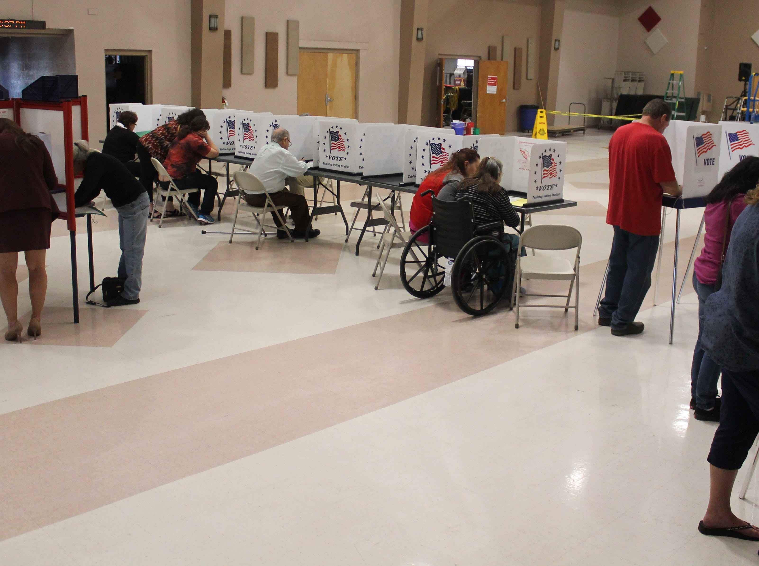 Many Alamogordo poll workers said that this year's midterm election had an impressively high turnout, especially for a midterm election.