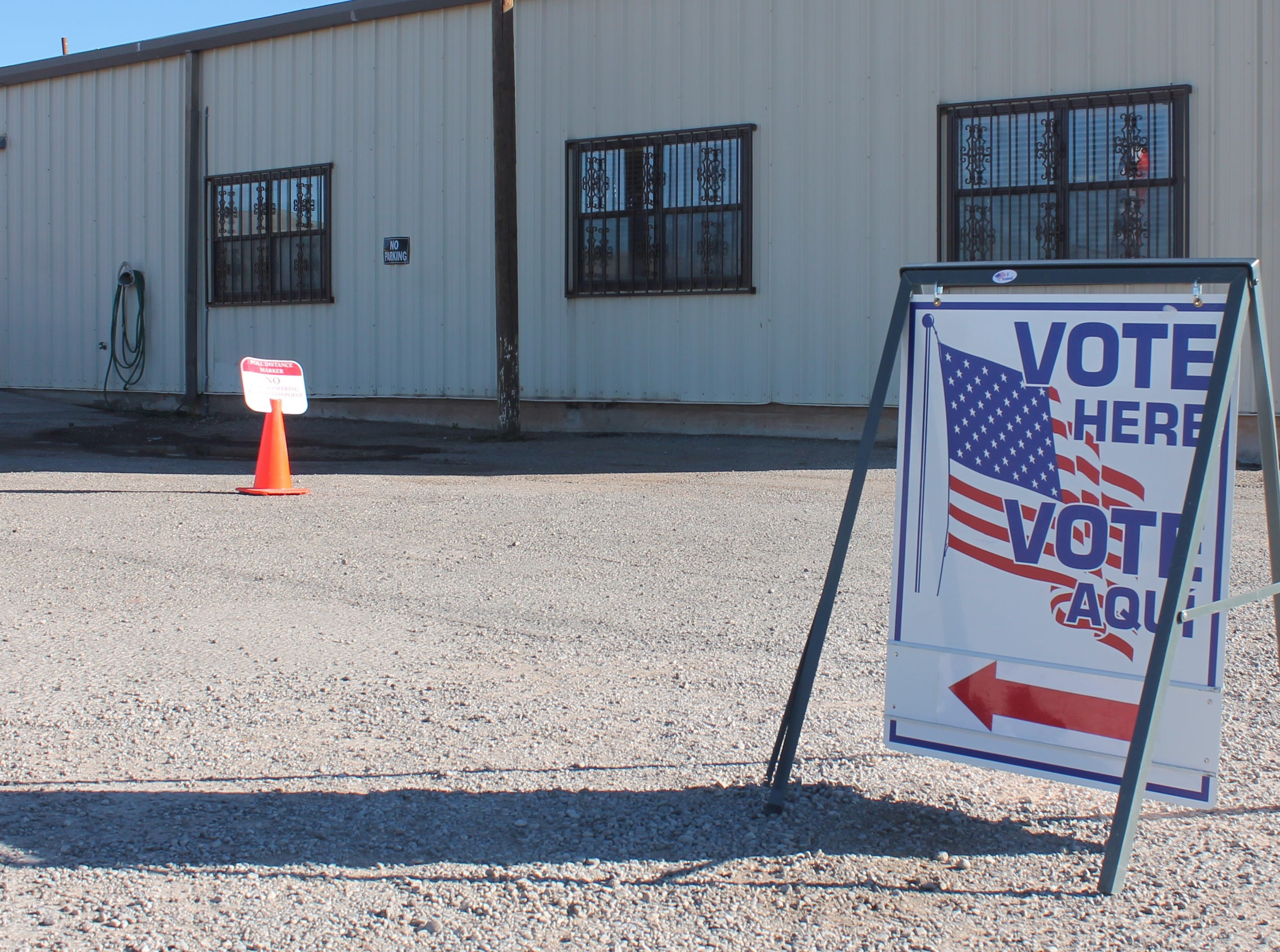 The Otero County Fairgrounds was one of three locations in Alamogordo where residents voted on Nov. 6.