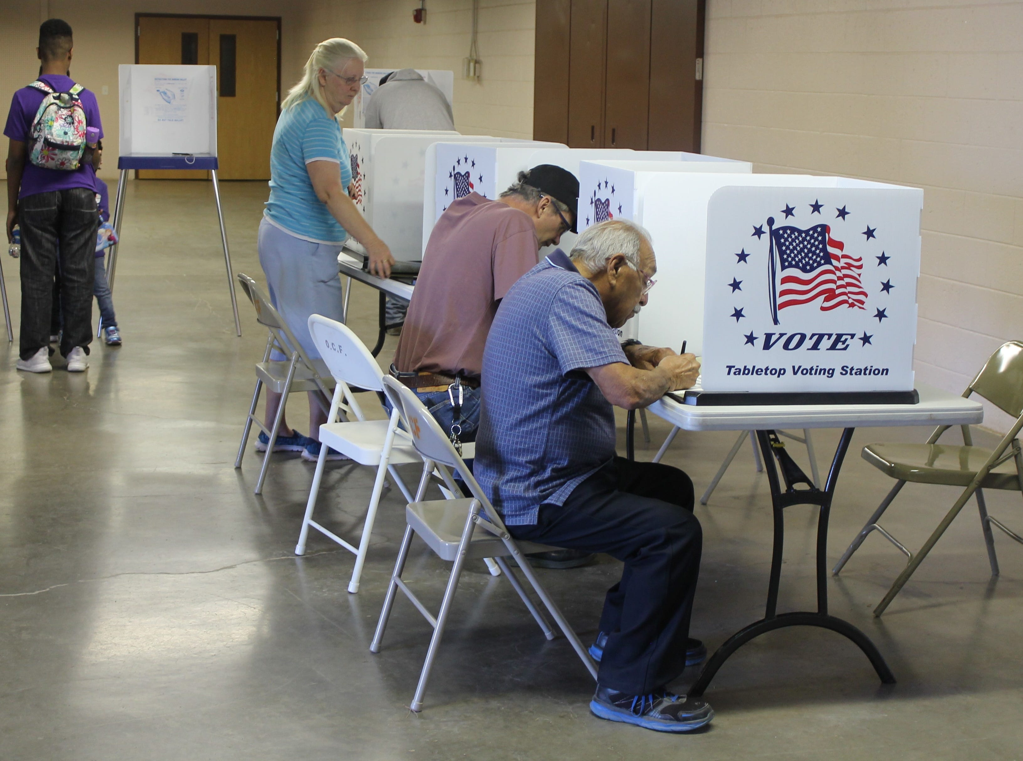 Statewide, New Mexico had 1,261,532 people registered to vote in the 2018 midterm elections. Some Alamogordo voters cast their ballots at the Otero County Fairgrounds on Nov. 6.