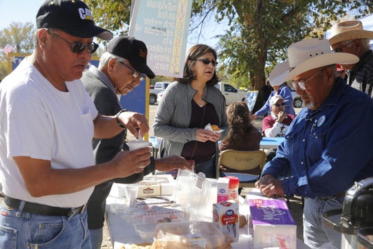 Election Day activity on the Navajo Nation includes candidates providing food to voters.