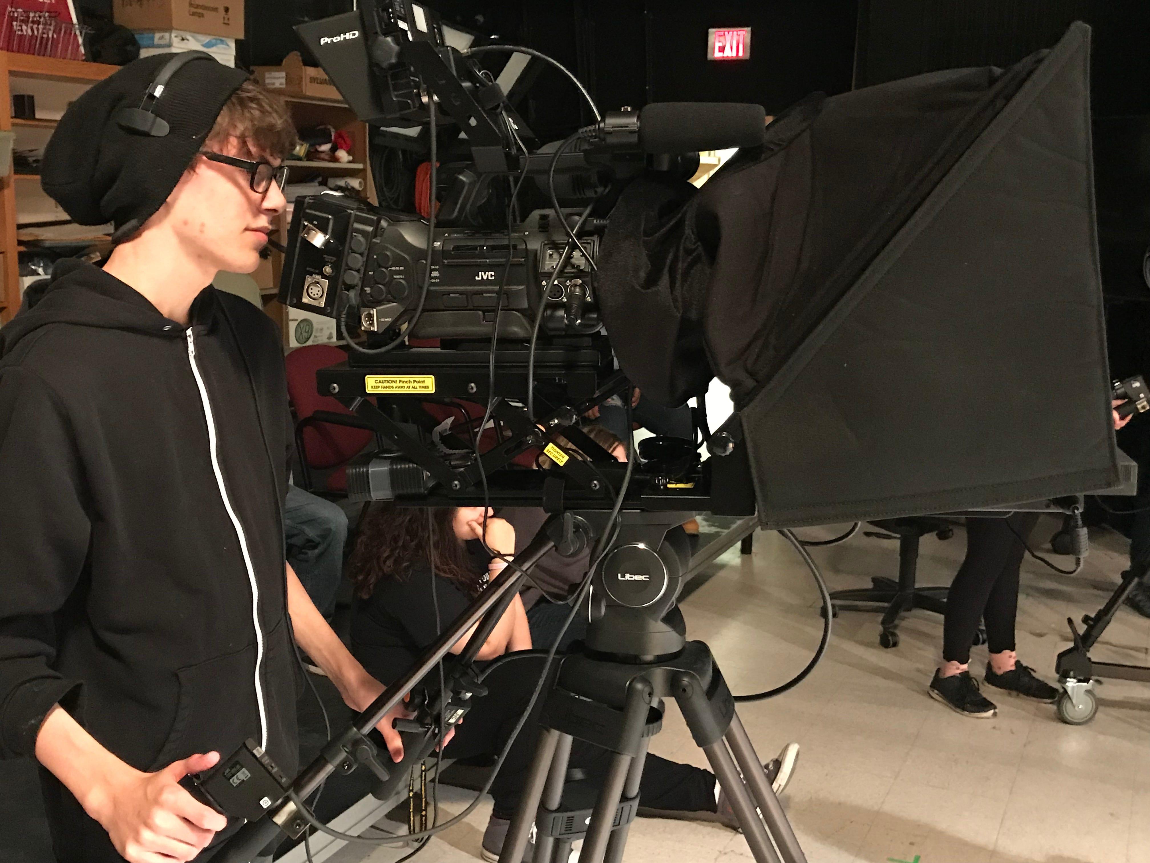Cameraman Greg Dawson.