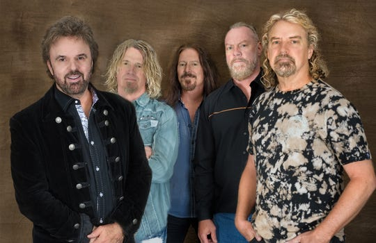 38 Special members, from left, Don Barnes, Bobby Capps, Barry Dunaway, Gary Moffat and Danny Chauncey