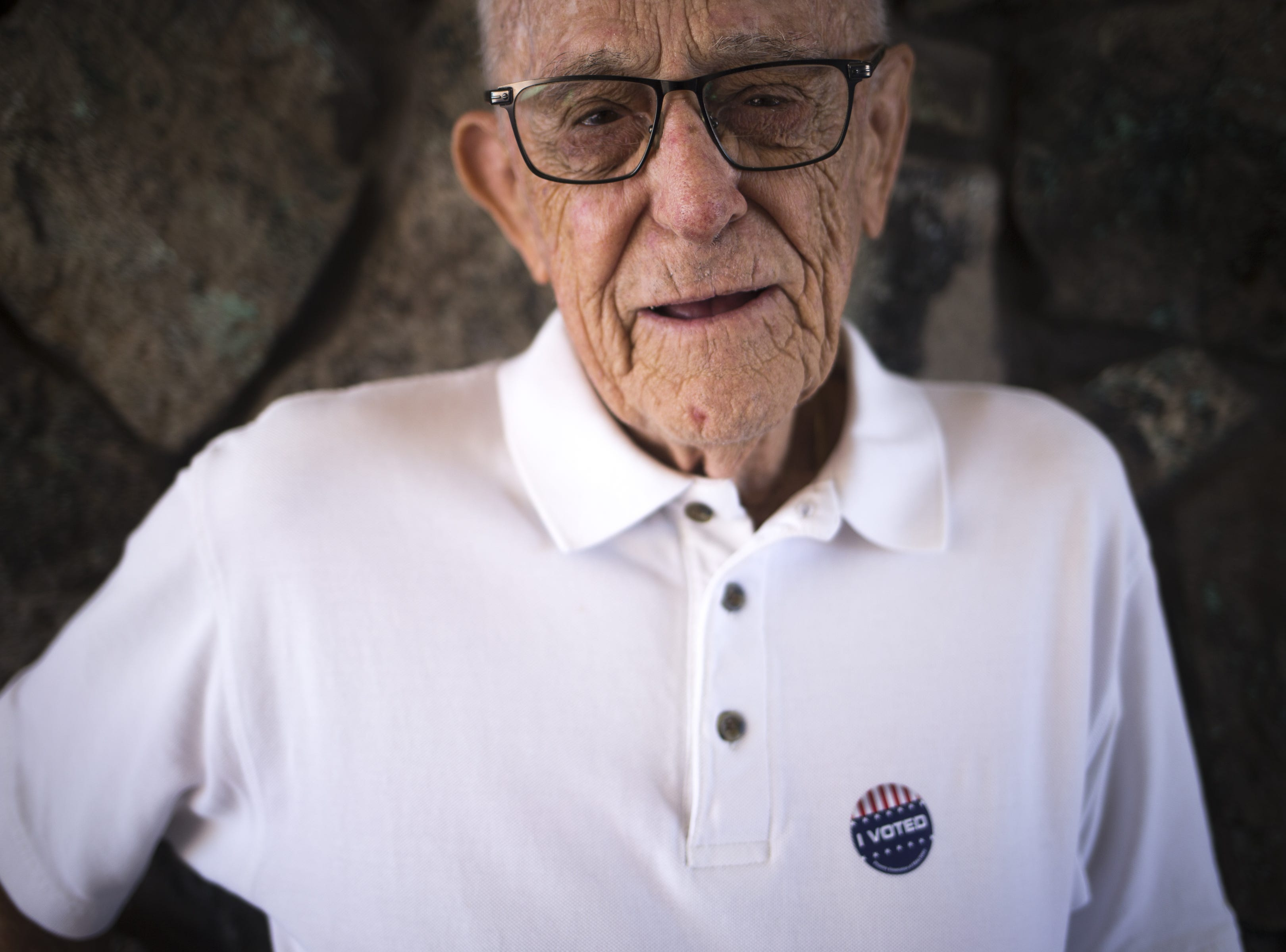 A portrait of Don Johne after he voted, Nov. 6, 2018, at Lakeview Rec Center, 10626 W. Thunderbird Blvd. in Sun City.