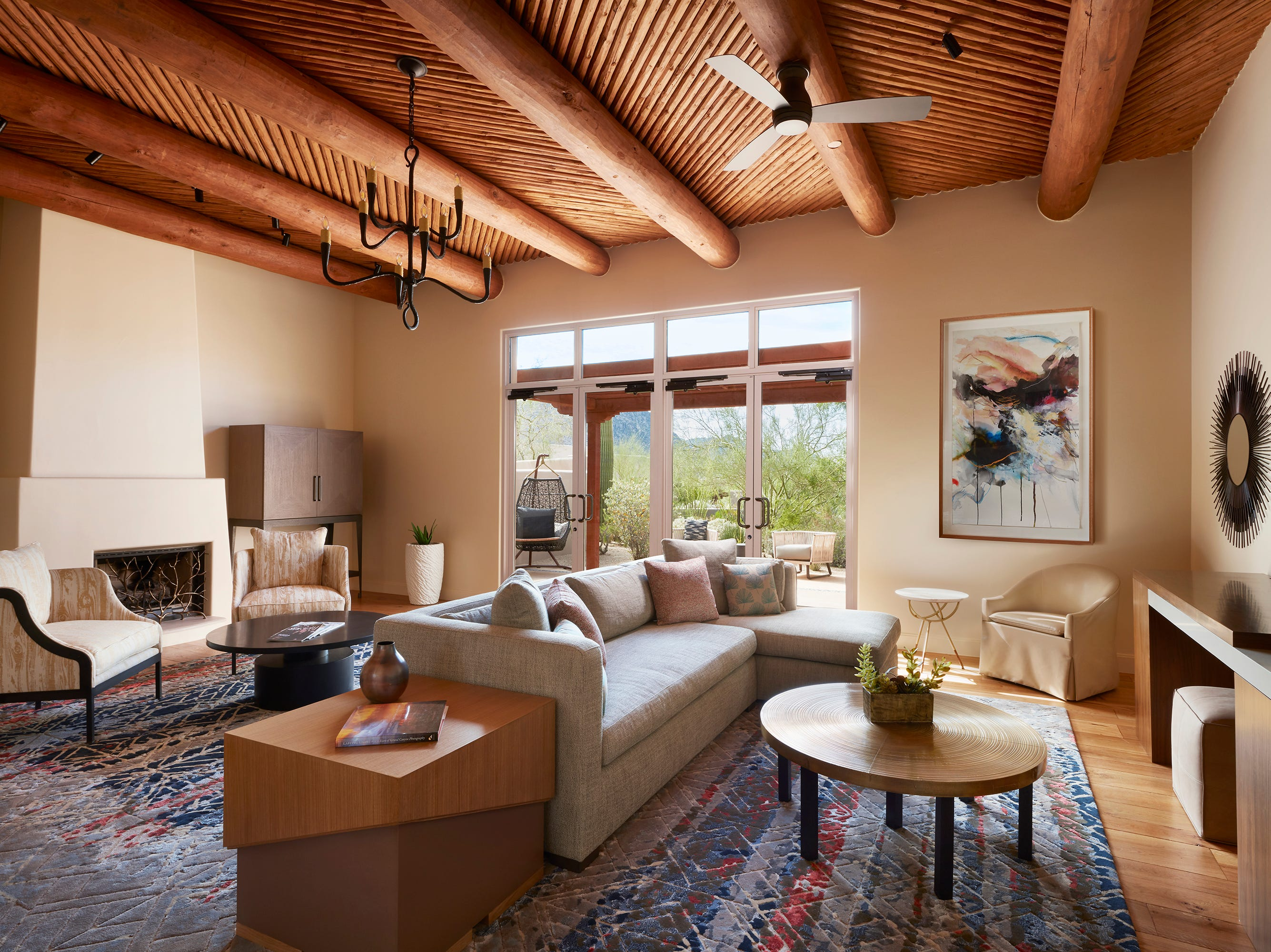 The living area of the Prescott Suite at the Four Seasons Resort Scottsdale at Troon North.