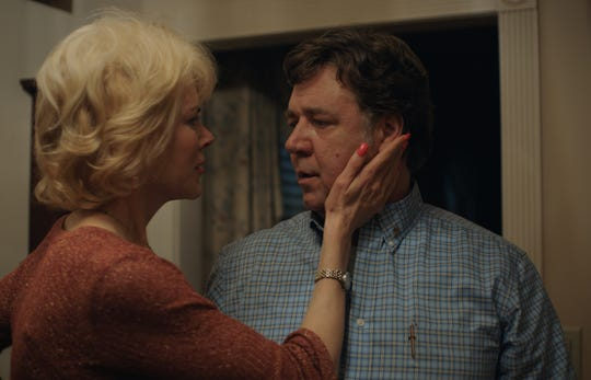 "Nancy (Nicole Kidman) and Marshall (Russell Crowe) are parents in ""Boy Erased."""