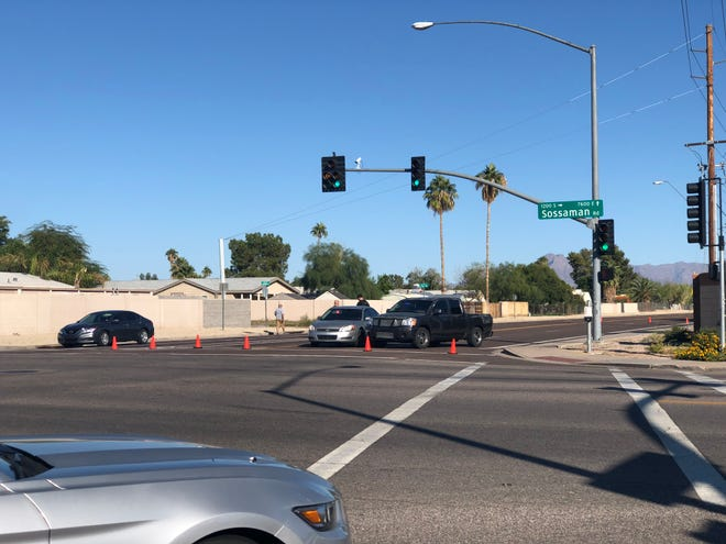The area near 80th Street and Sossaman Road in Mesa where a woman was found deceased and a man injured November 6, 2018.