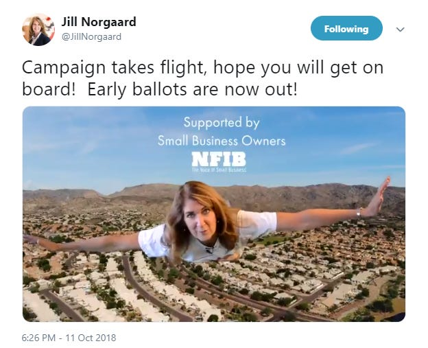 A screenshot of state Rep. Jill Norgaard's 2018 campaign ad.