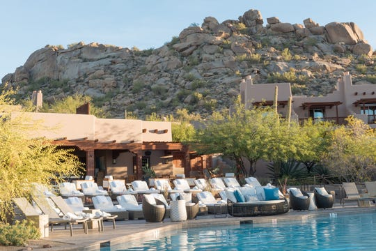 The Four Seasons Resort Scottsdale at Troon North replaced its poolside chaise lounges and patio furniture.
