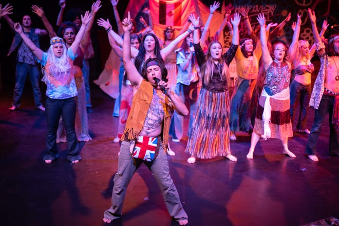 "The St. Clair County Community College production of ""HAIR"" continues Thursday, Friday and Saturday at the College's Fine Arts Theatre"
