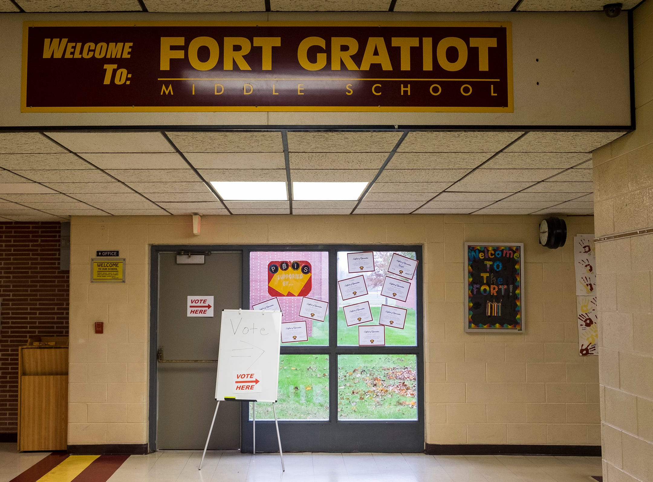 Fort Gratiot Middle School served as the precinct 2 voting location Tuesday, Nov. 6, 2018 during the mid-term elections.
