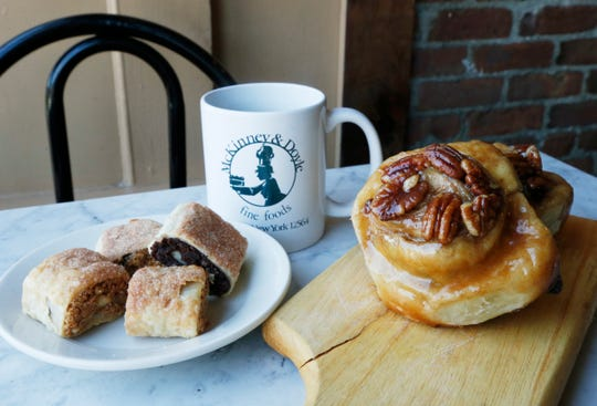 Rugelach and sticky buns from McKinney & Doyle Fine Foods in Pawling on October 31, 2018.