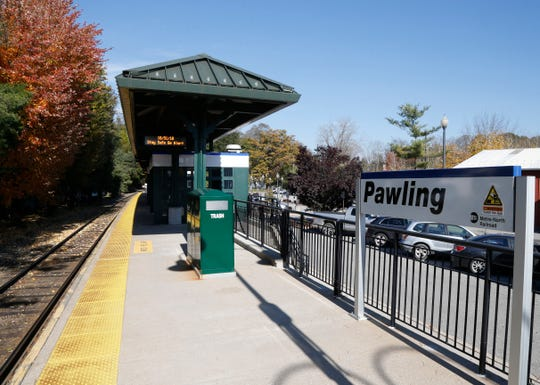 The Metro-North train station in Pawling on October 31, 2018.