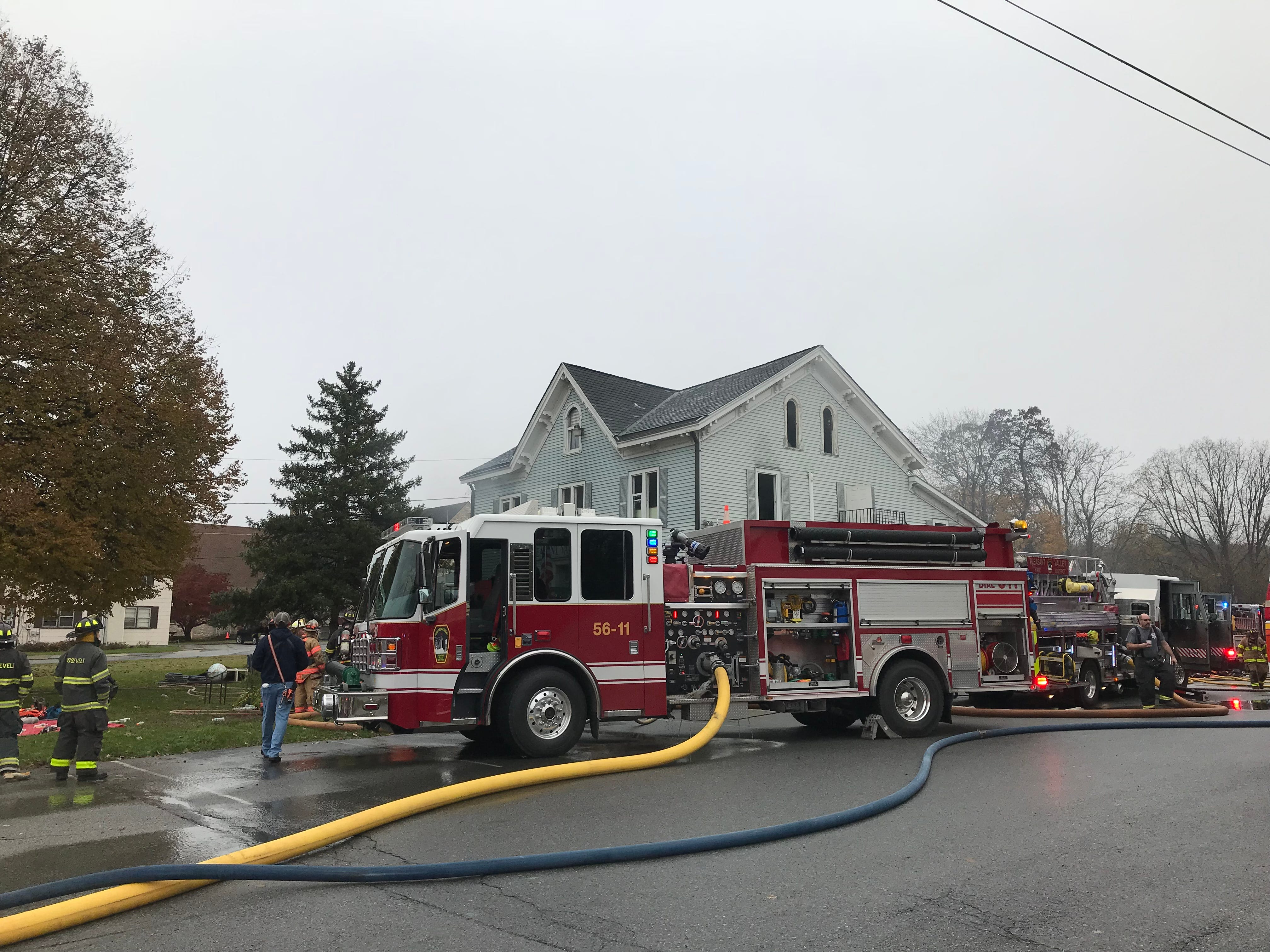 Firefighters responded to Pleasant Valley Library for a fire Tuesday morning.