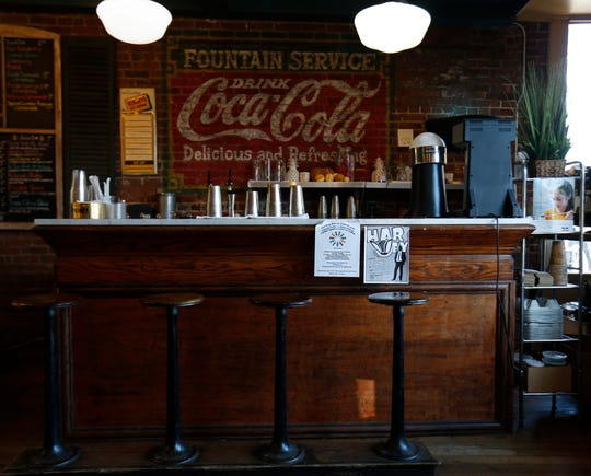 The soda counter at McKinney & Doyle Fine Foods in Pawling on October 31, 2018.